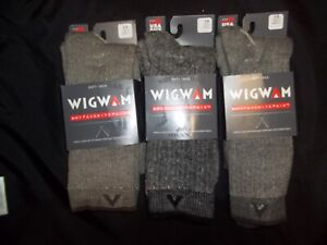 Wigwam Mer Cmft Hiker Grey Large Lot of 3 Socks Men's/Women's - New