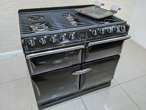 AGA MASTERCHEF DELUXE 100 LPG HOB DUAL FUEL RANGE COOKER IN BLACK A606