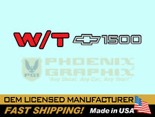 1990 - 1998 Chevrolet W/T1500 Work Truck End Tailgate Door Decal