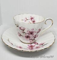 Royal Tuscan Fine Bone China Cup Saucer Teacup England set Gold Almond Blossom