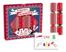 Box of 6 Magic Trick Christmas Crackers Family Dinner Party Joke & Hat GS604