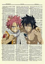 Fairy Tail Natsu and Gray Anime Dictionary Art Print Poster Picture Book Manga