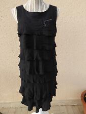robe noire à volants cop copine tulipa 40
