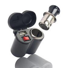 Motorcycle Waterproof 12V Cigarette Lighter Socket Phone USB Power Charger  wa