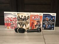 Singing Games Bundle with Microphone*Nintendo Wii* Complete w/ Manuals