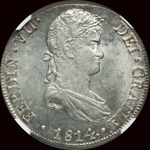 NGC MS63  1814 LM-JP Peru Ferdinand VII Silver 8 Reales