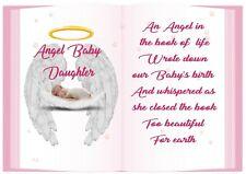 Baby Angel Book Of Life Graveside Card Memorial Keepsake Waterproof CH01