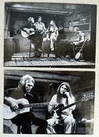 "2 Original Vintage 1970s Poco B&W Press Photos by Brian O'Dowd 5"" x 7"" RARE"