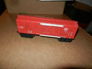 MARX #54099 Missouri Pacific Stock Car, Red, White Door Guides, 8 Wheel, Orig
