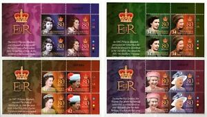 Alderney Stamps 2006 SG A274-A281  80th Birthday of QE II  Blocks Mint MNH