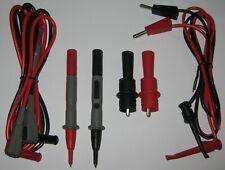 DMM Test 1 m. Long Lead Set - Banana Plugs - Probes - Alligator / Component Clip