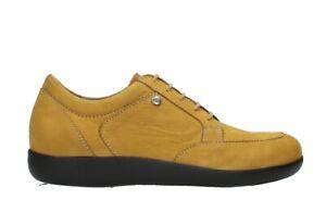 Wolky Sneaker Basis Flotter Schnürschuh gelb Wechselfußbett Größe 38