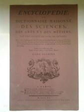 ENCYCLOPEDIE OU DICTIONNAIRE RAISONNE' DES SCIENCES DES ARTS ET DES METIERS (a3)