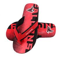 FOCO NFL Men's Atlanta Falcons Contour Fade Wordmark Thong Sandals