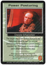 Babylon 5 CCG Deluxe Rare R1 Card Power Posturing Correct M/NM Mint/Near Mint
