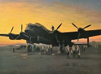 A LINCOLNSHIRE SUNSET 1944 by Gerald Coulson signed by 617 Squadron veterans
