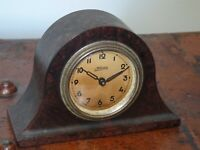 Antique 1920s/30s Kaiser Miniature Bakelite Napoleon's Hat Mantel Clock -Wind-Up