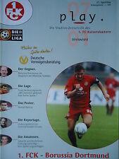 Programm 2000/01 1. FC Kaiserslautern - Borussia Dortmund