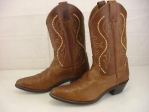 Women's 9 B M Justin L4936 Western Cowgirl Boots Brown Golden Saltillo Cowhide