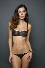 La Perla Graphique Couture Black Bandeau Bra IT 3 & Thong IT 2 Set - New