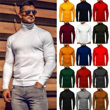 Pullover Sweatshirt Langarmshirt Rollkragen Unifarben Men Herren Mix BOLF Basic