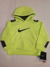 Unisex Toddler Nike ThermaFit Polyester Pullover Hoodie Yellow Black 2T NWT $38