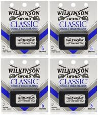 Wilkinson Sword CLASSIC Double Edge Razor Blades (4 packs of 5 = 20 Blades)