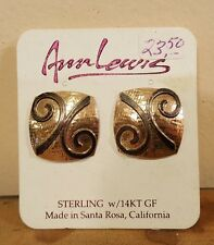 Sterling 14K gold fill earrings by Ann Lewis usa