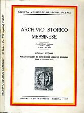Archivio Storico Messinese. . 1957. .
