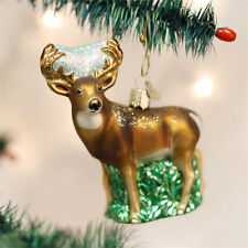 Whitetail Deer Glass Ornament