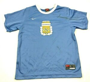 Nike Argentina Soccer Jersey Youth Size Large YL Blue White Dry Fit Shirt Swoosh