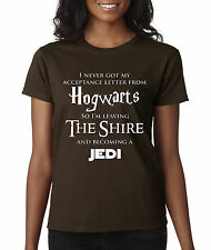 allwitty 1064 - Women's T-Shirt Hogwarts The Shire Jedi Harry Potter