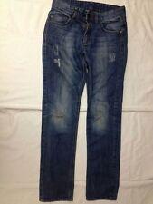 Benetton Jeans - Taglia L - colore Denim sfumato - con sgranature e tagli  USATI