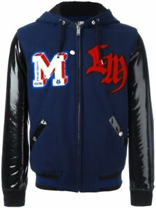 Love Moschino Patch Detailing Hooded Bomber Jacket size L RRP£1249