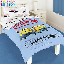 DESPICABLE ME MINIONS UNDERCOVER SINGLE DUVET SET COVER QUILT BEDDING CHILDRENS