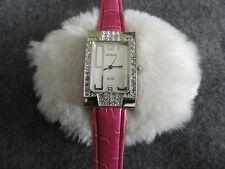 Pretty Ladies Geneva Elite Quartz Watch - Stainless Steel Back