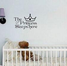 Wandtattoo  Prinzessin Wandsticker Baby Mädchen Aufkleber Kinderzimmer Tattoo