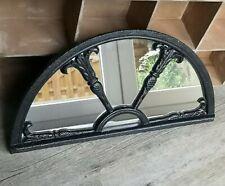 altes Gründerzeit Rundbogen Gusseisen Stallfenster - verglast zum Spiegel