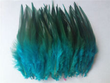 30 pieces Rooster Tail Feathers 8-12cm Aqua & Green Dip Hats Craft Pet Toys HOT