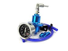 Blue FPR Adjustable Fuel Pressure Regulator & Gauge Universal use on Kit Car