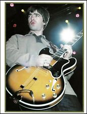 Oasis Noel Gallagher onstage with Epiphone Sheraton guitar 2000 pin-up photo