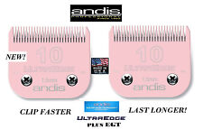 LOT 2 ANDIS UltraEdge+PLUS PET Grooming 10&7FC BLADE*Fit Most Oster,Wahl Clipper