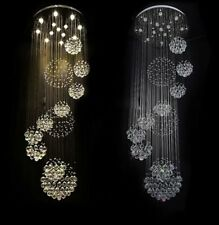 "LED Dia31.4""Chandeliers K9  Crystal Ceiling Light Villa Stairs Lighting Fixtures"