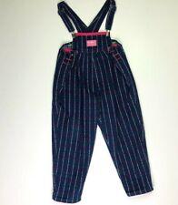 Vintage Oshkosh Bgosh Girls 5 Pink Hearts Spell Out Denim Overalls