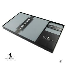 More details for leather placemats coasters light grey set of 8. recycled leather. made in uk.
