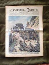 La Domenica del Corriere 19 Aprile 1936 Montagna Castello Tricolore Mussolini