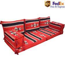Handmade Seating Sofa Arabic Turkish Jalsa Oriental Floor Cushion Red Black FOAM