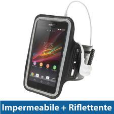 Nero Fascia Braccio per Sony Xperia Z Android Smartphone Sport Palestra Corsa
