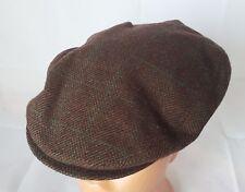 VINTAGE AUTHENTIC DERBY CAP WOOL NEWSBOY CABBIE CAP HAT SIZE:US6 7/8EU 55