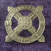 Highland Regiment Cap Badge British Army Military Badge
